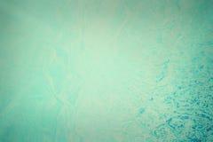 Blå grungetexturvägg med sprickor Royaltyfri Fotografi