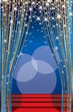 blå gryningetapp Arkivbilder
