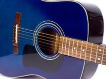 blå guitar3 arkivfoton
