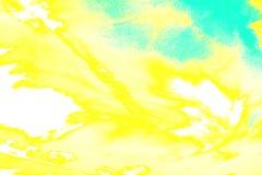 Blå gul bakgrund för ljus abstraktion close upp royaltyfri illustrationer
