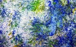 Blå gul grön bakgrund för vattenfärg för målning för fläckar för vita fläckar för suddighet livliga romantisk, abstrakt måla vatt royaltyfri fotografi