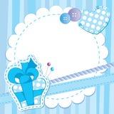 blå gullig ram Arkivfoton