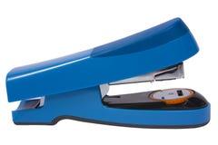 blå häftapparat Royaltyfri Fotografi