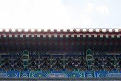Blå härlig vägg i tempel av himmel Fotografering för Bildbyråer