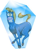 Blå häst Royaltyfria Foton