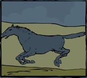 blå häst Royaltyfri Fotografi