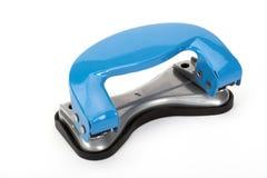 blå hålpuncher Fotografering för Bildbyråer
