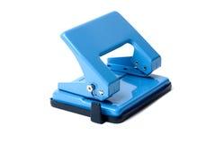 blå hålpuncher Royaltyfri Bild
