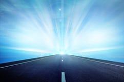 blå hög sky långt Arkivfoton