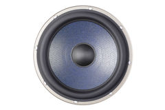 blå högtalare Royaltyfri Foto