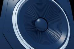 blå högtalare Arkivbild
