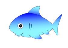 blå haj stock illustrationer