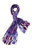 Blå halsduk med blom- design Royaltyfri Bild