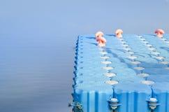 Blå hamn och sjö Royaltyfri Foto