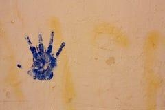 blå hand Royaltyfria Bilder