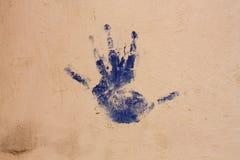 blå hand Royaltyfri Fotografi