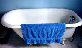 blå handduk Fotografering för Bildbyråer