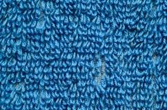 Blå handduktexturnärbild Royaltyfri Fotografi