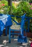 blå handväska Royaltyfri Foto