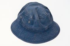 blå hatt Royaltyfri Fotografi