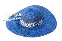 Blå hatt Arkivbild