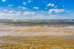 blå havsky Arkivfoto
