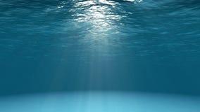 Blå havyttersida som ses från undervattens- stock illustrationer