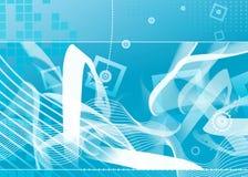 blå high för bakgrund - tech royaltyfri illustrationer