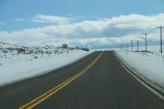 Blå himmel över huvudväghorisont Arkivbild
