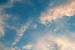 Blå himmel efter solnedgång Fotografering för Bildbyråer