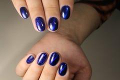 Blå himmel för manikyrdesign Royaltyfria Bilder