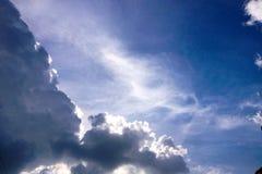 Blå himmel i aftontid Arkivbilder