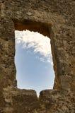 Blå himmel med ett vitt moln som igenom ses Royaltyfri Fotografi