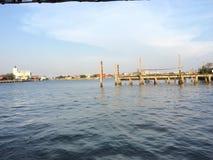 Blå himmel med floder Arkivfoton