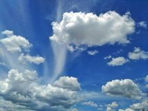 Blå himmel med lagret av moln Royaltyfri Foto