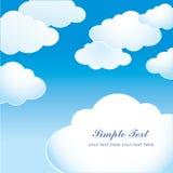Blå himmel med ljusa moln Fotografering för Bildbyråer