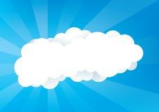 Blå himmel med moln vektor illustrationer