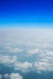 Blå himmel och horisont Fotografering för Bildbyråer
