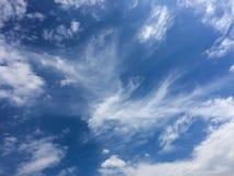 Blå himmel och molnigt Arkivfoton