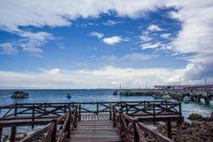 Blå himmel på Pattaya, Chon Buri Royaltyfri Fotografi