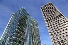 Blå himmel Vancouver för moderna skyskrapor Arkivbild