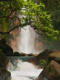 blå himmelsk vattenfall Royaltyfri Fotografi