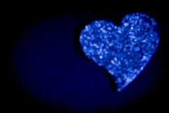 blå hjärta Royaltyfri Fotografi