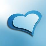 blå hjärta Arkivfoton