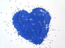 blå hjärta Arkivfoto