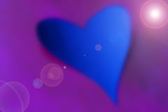 blå hjärtamauve Arkivbild
