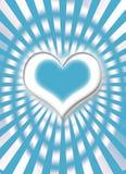 blå hjärtawhite Arkivfoto
