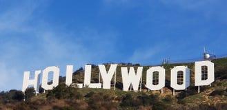 blå hollywood teckensky fotografering för bildbyråer