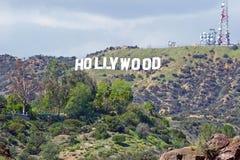blå hollywood teckensky Berömd gränsmärke för värld Fotografering för Bildbyråer