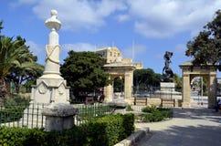 Blå horisont i Floriana, Malta Royaltyfri Foto